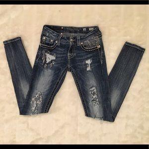 Miss Me Signature Ride Cuffed Skinny Jeans